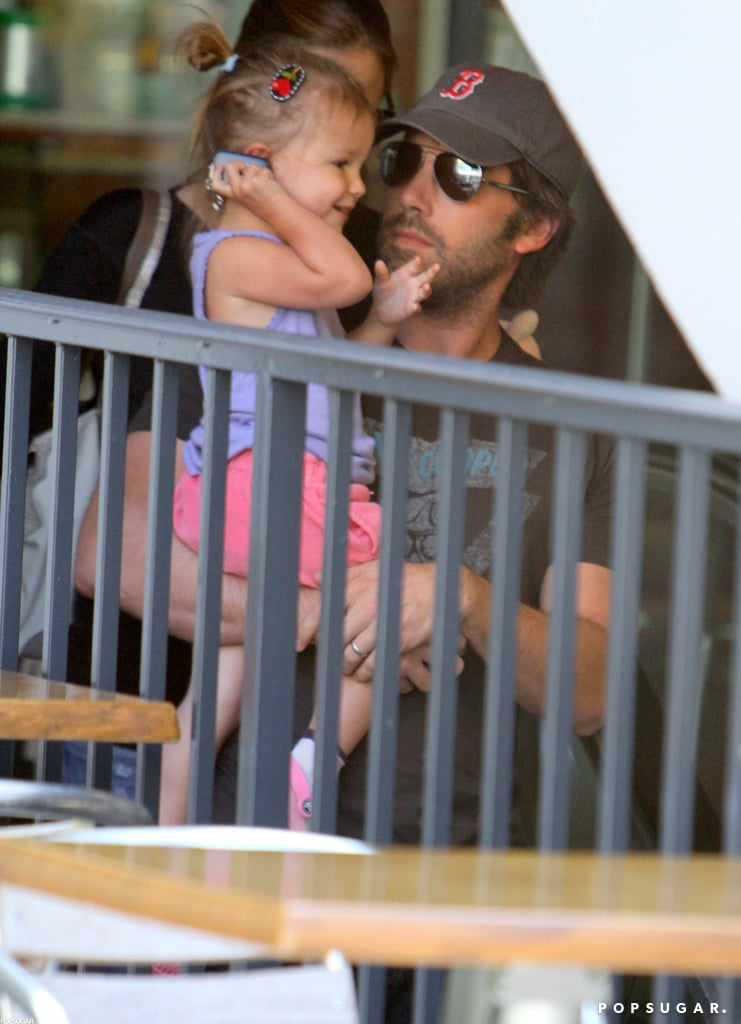 Seraphina Affleck was all smiles in Ben Affleck's arms in August 2011.