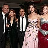 Gael García Bernal Posing With Writer Lila Feinberg and Costars Lola Kirke and Hannah Dunne