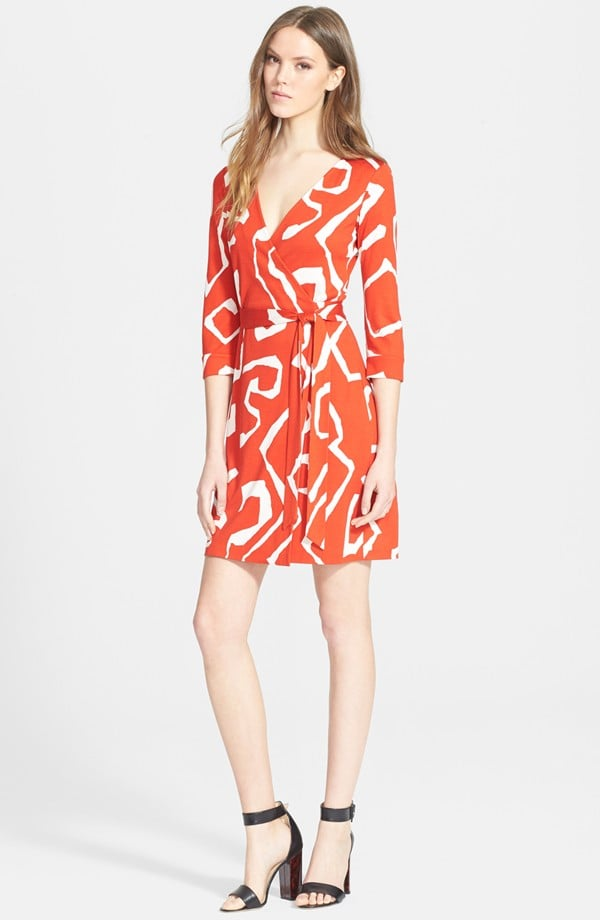 DVF New Julian Two Silk Jersey Wrap Dress ($398)