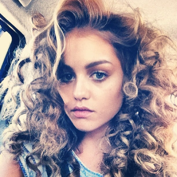 Isabelle Cornish makes corkscrew curls look a million bucks, no? Source: Instagram user isabellecornishh
