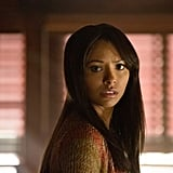 Bonnie (Kat Graham) is probably being called on to do some impossible spell.