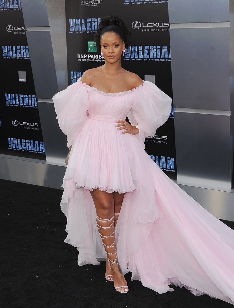 Rihanna Pink Giambattista Valli Dress at Valerian Premiere