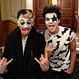 One Direction's Louis Tomlinson went as a member of the band KISS. Source: Instagram user louist91