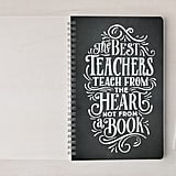 Minted The Best Teachers Self-Launch Notebook