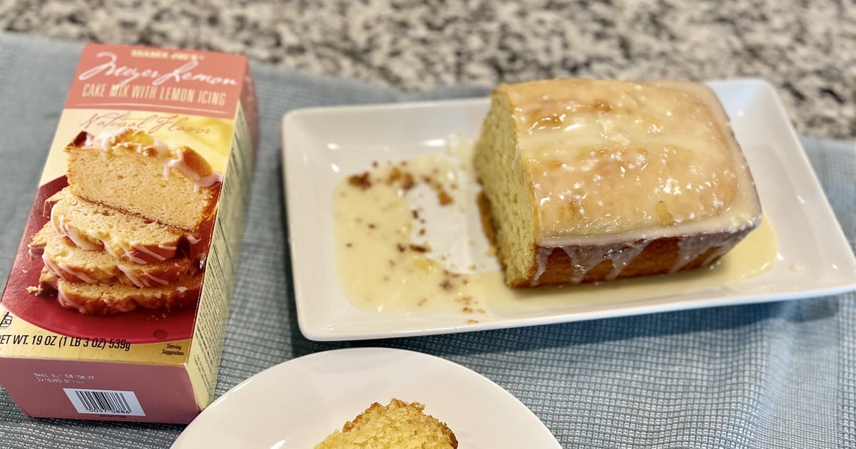 I Made Trader Joe's Meyer Lemon Cake Mix, and It Taste Like a Citrusy Cloud Covered in Icing