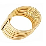 Goldtone Bangle Set, $150
