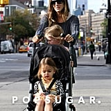Sarah Jessica Parker pushed a stroller with her twins.