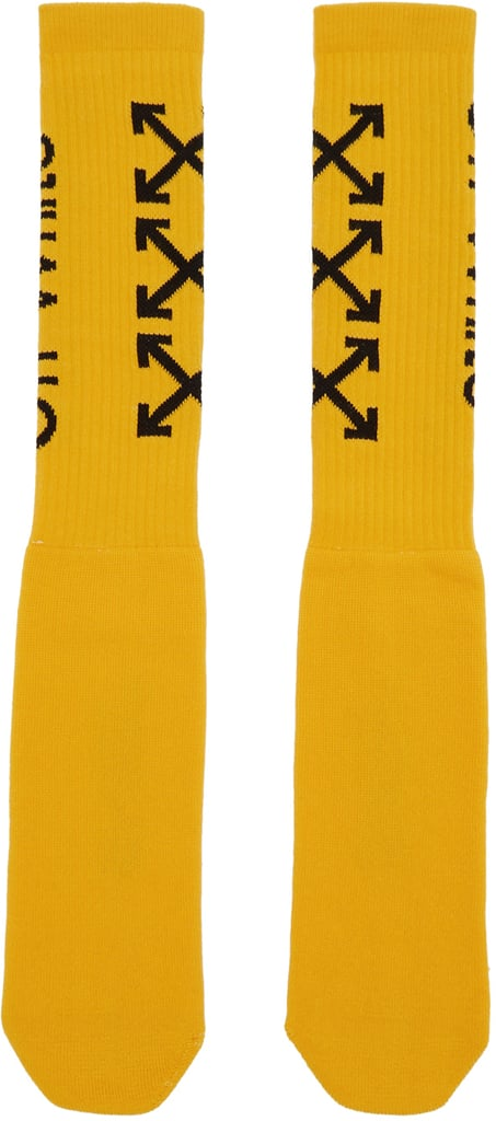 Off-White Yellow Carry Arrows Socks