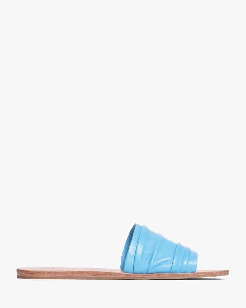 Paige Emilia Leather Blue Slides