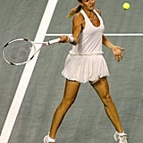 Tennis babe Maria Kirilenko brought fashion to the tennis court in her tutu-inspired dress.