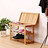Ollieroo 2 Tier Natural Bamboo Shoe Rack