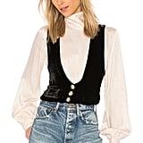 For Love & Lemons Beatrix Velvet Vest