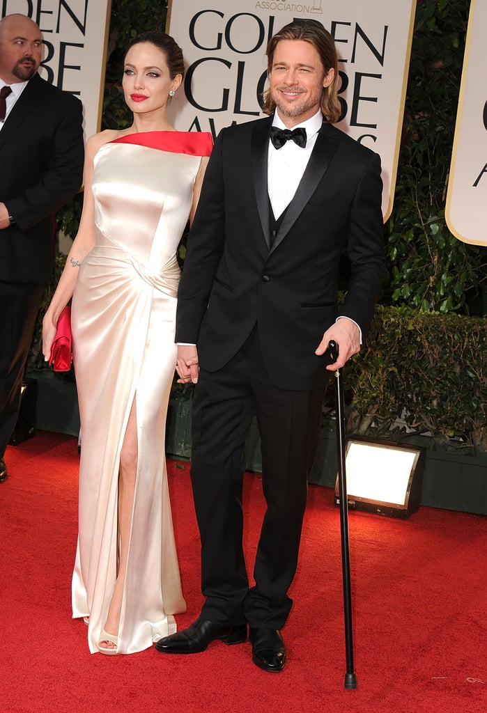 Brad and Angelina made a statement on the red carpet at the Golden Globes in January.