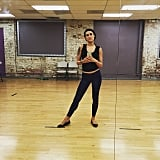 Rumer Willis got ready for Dancing With the Stars.