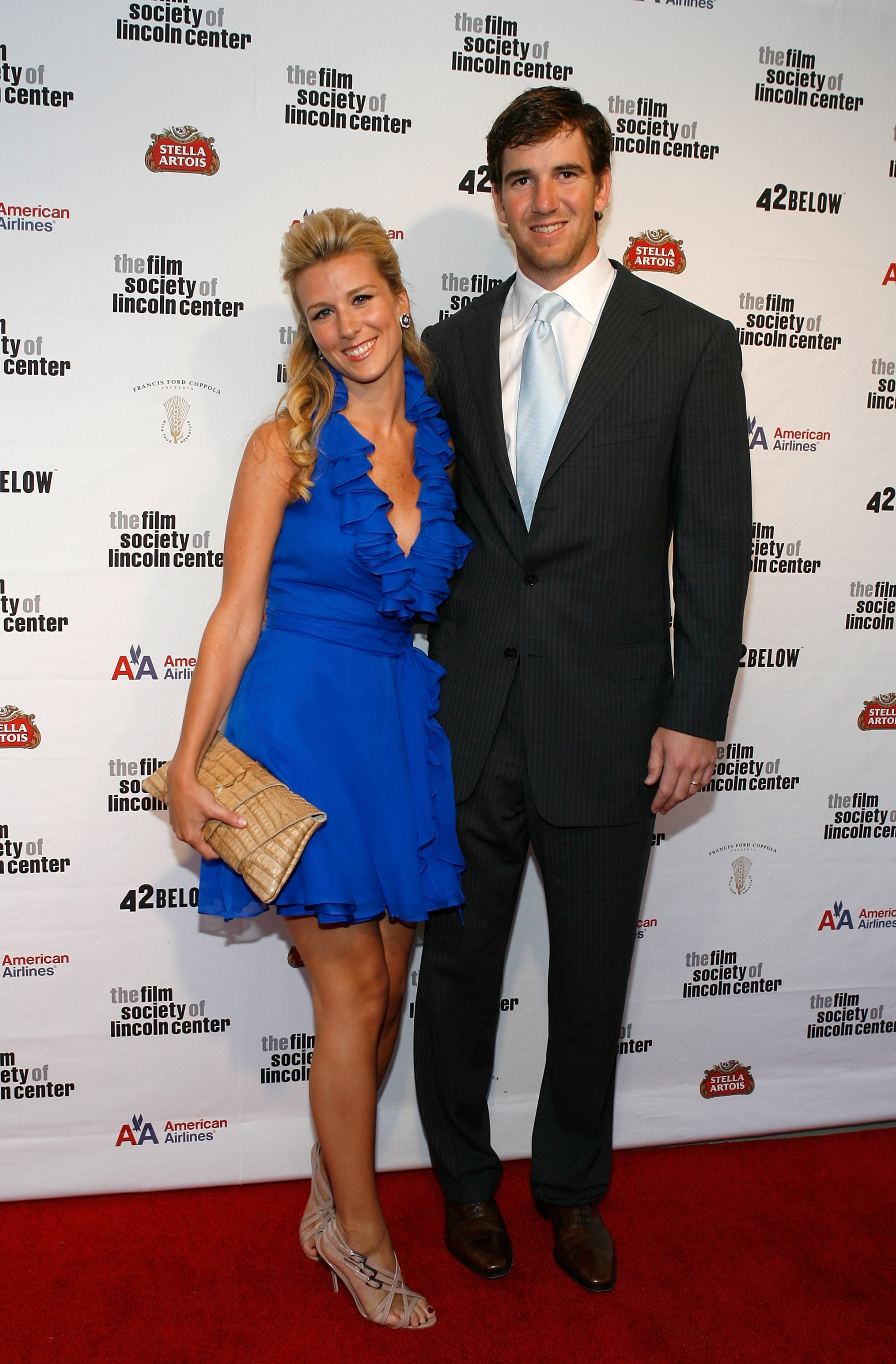 NEW YORK - APRIL 27: Abby McGrew and football player Eli Manning attend the 36th Film Society of Lincoln Center's Gala Tribute at Alice Tully Hall on April 27, 2009 in New York City.  (Photo by Mark Von Holden/Getty Images)