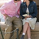 Scarlett and Chris Evans shared a kiss on the set of The Nanny Diaries in 2006.