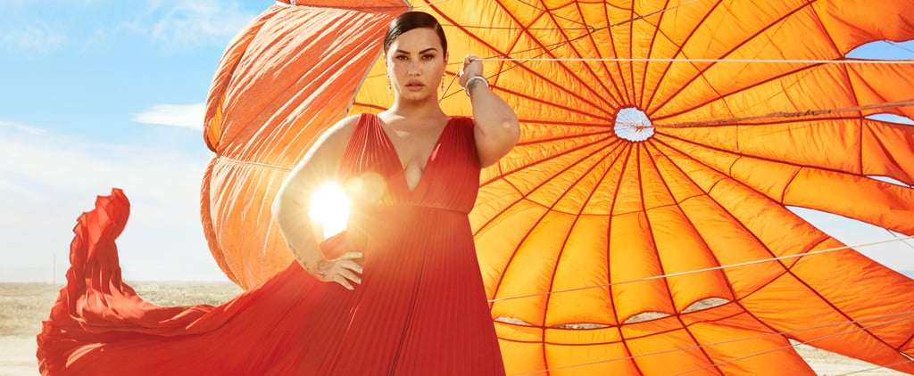 Demi Lovato Wearing a Valentino Dress on Harper's Bazaar