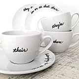 Grammar Teacup and Saucer Set ($48)
