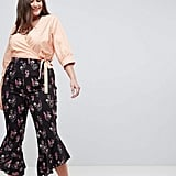 Fashion Union Trousers With Ruffle Hem