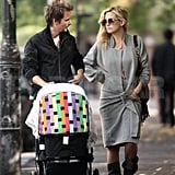 Kate Hudson and Matthew Bellamy walked and talked with baby Bingham.