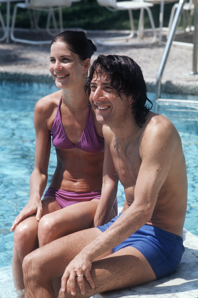 Dustin Hoffman and his wife Anne Byrne hit the swimming pool back in 1975.