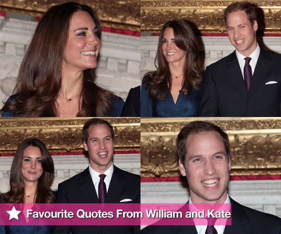 Pictures and Quotes From Prince William and Kate Middleton's Interviews About Their Engagement, Wedding, Ring, and Proposal