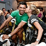 Mark and Kelly managed to make working out look good when they attended a SoulCycle class in NYC in May 2011.