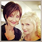 Nashville's Clare Bowen spent a day with country singer Pam Tillis. Source: Twitter user clarembee