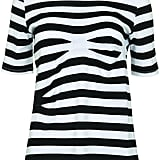 Jersey striped top.