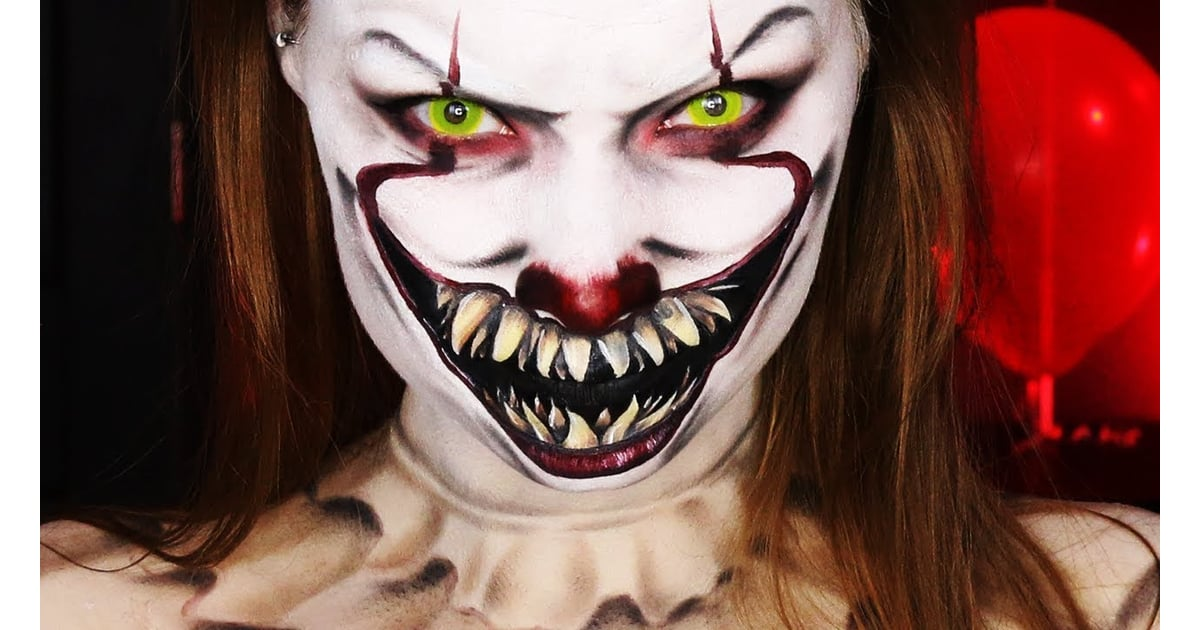 Hand Painted Pennywise Makeup It Pennywise The Clown