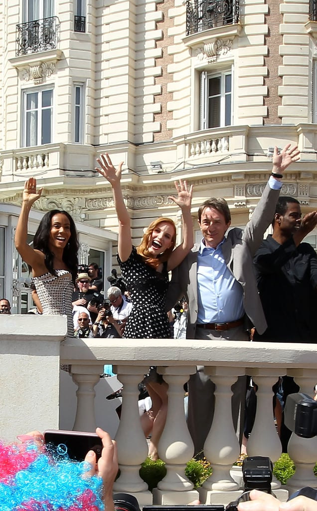Jada Pinkett Smith, Jessica Chastain, and Chris Rock waved to the crowd at the Cannes Film Festival.