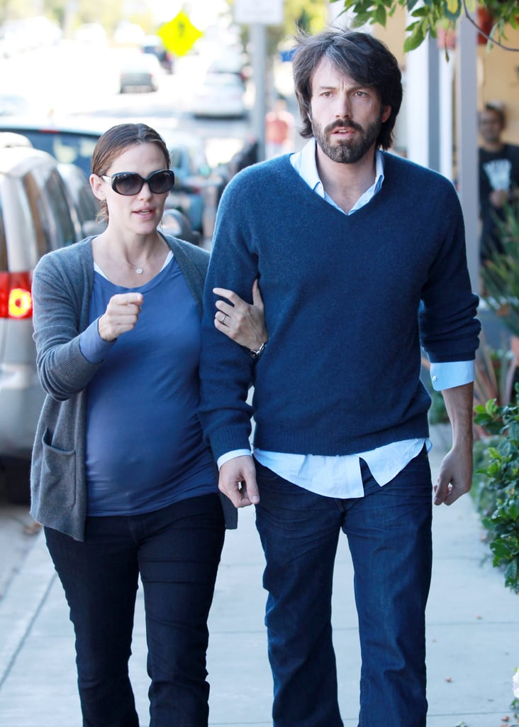 Pregnant Jennifer Garner with Ben Affleck in LA.