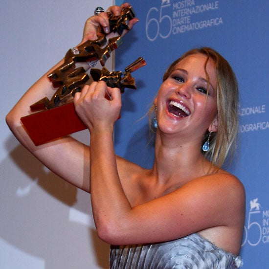 Jennifer Lawrence picked up the 2008 Marcello Mastroianni Award for Best Young Actress for her work in The Burning Plain.