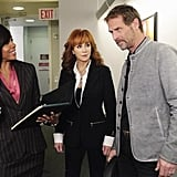 Wendy Raquel Robinson, Reba McEntire, and Jeffrey Nordling in Malibu Country.