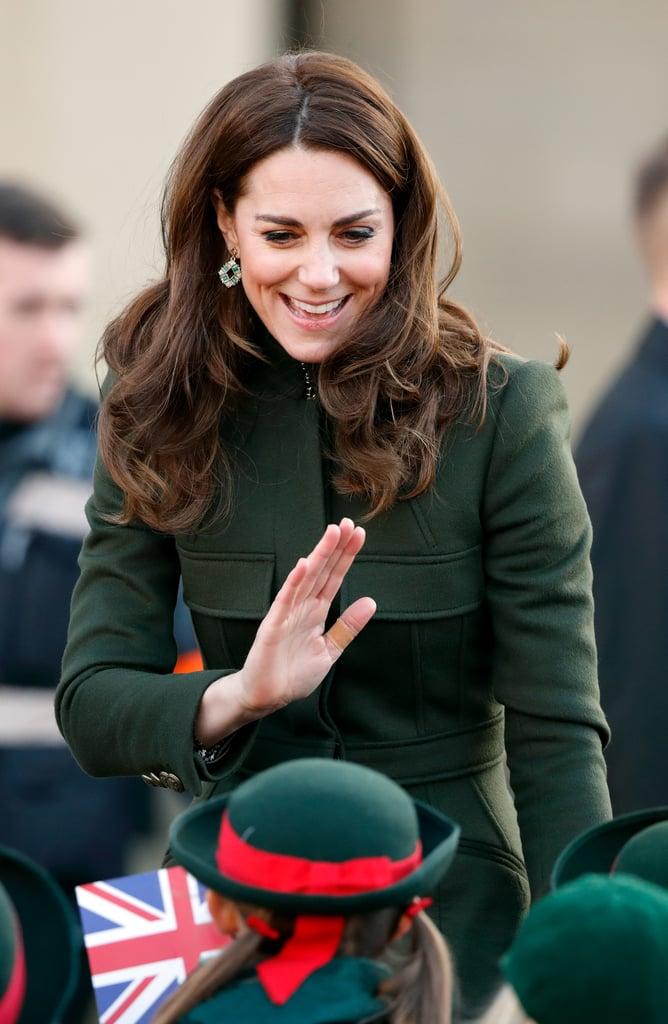 Kate Middleton Wears a Zara Dress Under Her McQueen Coat