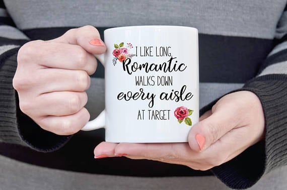 """I Like Long Romantic Walks"" Mug"