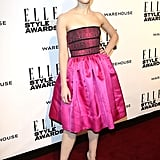 Felicity Jones in Christopher Kane was one of the brightest red carpet looks.