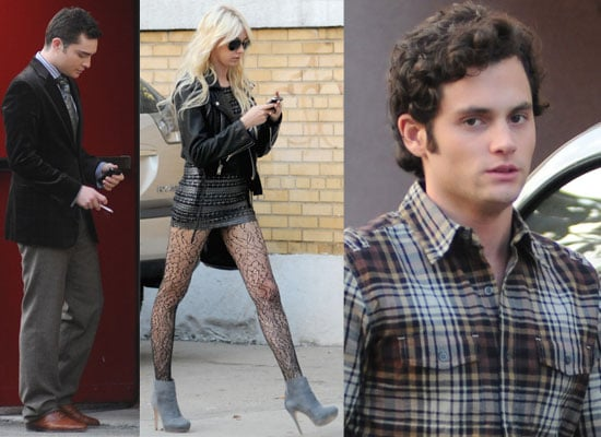 Gallery of Photos of Gossip Girl Cast Ed Westwick, Taylor Momsen and Penn Badgley Filming, Chace Crawford Working on Footloose