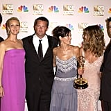 The cast posed for photos in the press room after winning an Emmy in 2002.