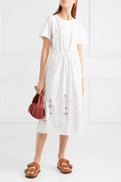 5054daa095 See by Chloé Cutout Cotton-Jersey Midi Dress | Chic Summer Dresses ...