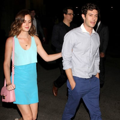 Adam Brody and Leighton Meester at Some Girls Movie Premiere