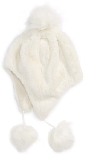Tucker + Tate Girl's Faux Fur Earflap Hat — Ivory