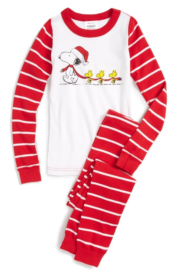Hanna Andersson 'Peanuts - Santa Snoopy' Two-Piece Fitted Pajamas
