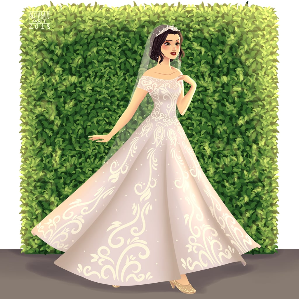 Snow White Is Simply Stunning in This Boat-Neck Bridal Look