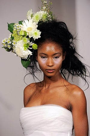 Floral Bridal Bouquet Hair Piece From Douglas Hannant