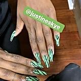 Justine Skye's Zebra-Print Nail Art