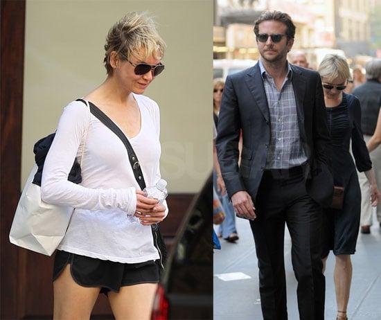 Pictures of Renée Zellweger and Bradley Cooper in New York City