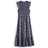 Ruffle Smocked Midi Dress in Modern Liberty Floral ($48, originally $64)