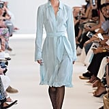 We'd love to see Kate in a similar shade come Spring, since she wears blue so well. The designer worked his signature gingham print into the new collection, and this shirtdress is classic enough for the duchess. Altuzarra Spring 2017