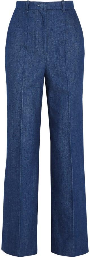 Topshop Unique High-Rise Wide-Leg Jeans ($180)